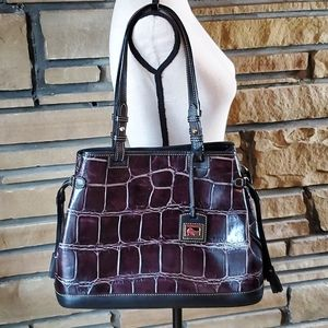 🥀DOONEY & BOURKE Croc Emboss Plum Denison Set Bag